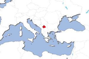 コソボの地図