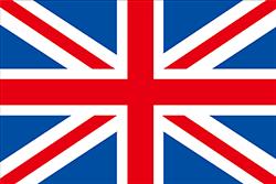 斜め線間違いのイギリス国旗