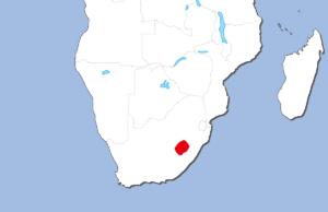 レソト王国の地図