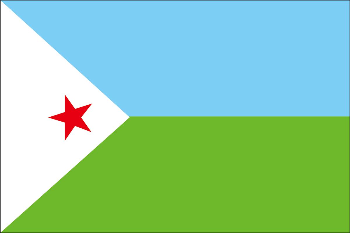 ジプチの国旗