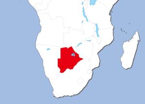 ボツワナの地図