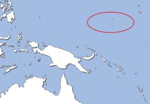 ミクロネシア連邦地の図