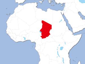 チャドの地図