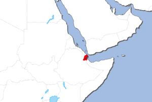 ジブチの地図