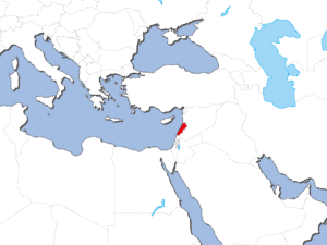 レバノンの地図