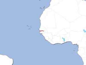 ガンビアの地図