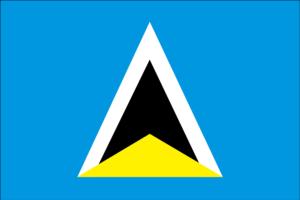 セントルシアの国旗
