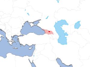 南オセチアの地図