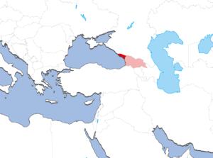 アブハジアの地図