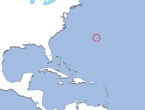 バミューダ諸島の地図