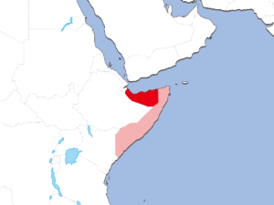 ソマリランドの地図