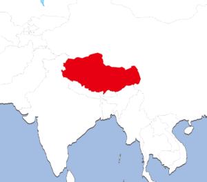 チベットの地図