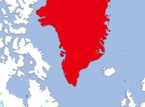 グリーンランドの地図
