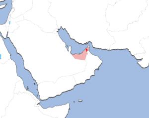 シャールジャの地図
