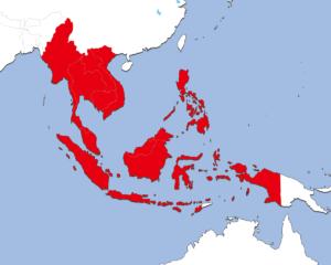 ASEANの地図