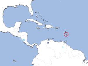 マルティニーク島の地図