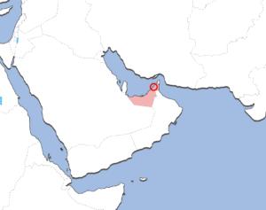 アジュマーンの地図