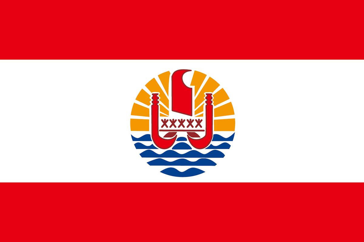 フランス領ポリネシアの旗