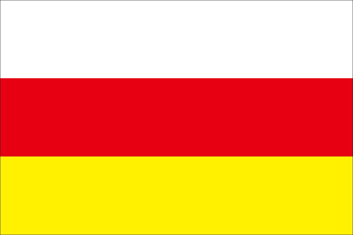 北オセチア・アラニヤ共和国の旗