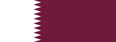 カタールの国旗縦横比1949-1971