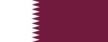 カタールの国旗縦横比