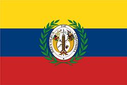 大コロンビアの国旗1821年–1831年
