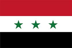 バース党が政権奪取後に制定した国旗 (1963-1972)