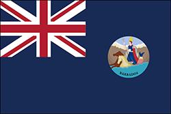 バルバドスの植民地の旗1870〜1966