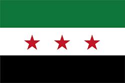 シリア共和国の旗1932~1958年 1961~1963年