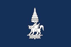 チャンパサック王国の旗(1713–1947)
