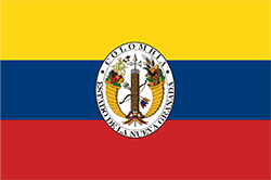 ニューグラナダ共和国の暫定旗1830~1834年5月9日