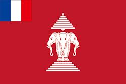 フランスの植民地としてのラオスの旗