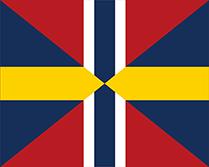 ノルウェーとスウェーデンの連合の旗