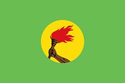 ザイール共和国の国旗1971年 - 1997年