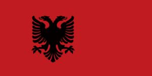 アルバニア国旗の変遷1943年-1944年