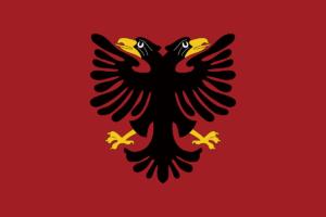 アルバニア国旗の変遷1920年-1925年 1925年-1926年