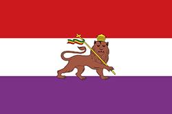 エチオピアの国旗1875~1881年