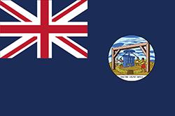 イギリス占領時代前期の旗(1875~1903年)