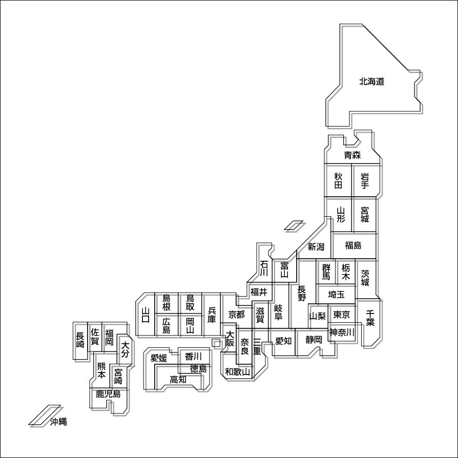 無料 無料地図素材  素材  日本地図のデザイン素材 .