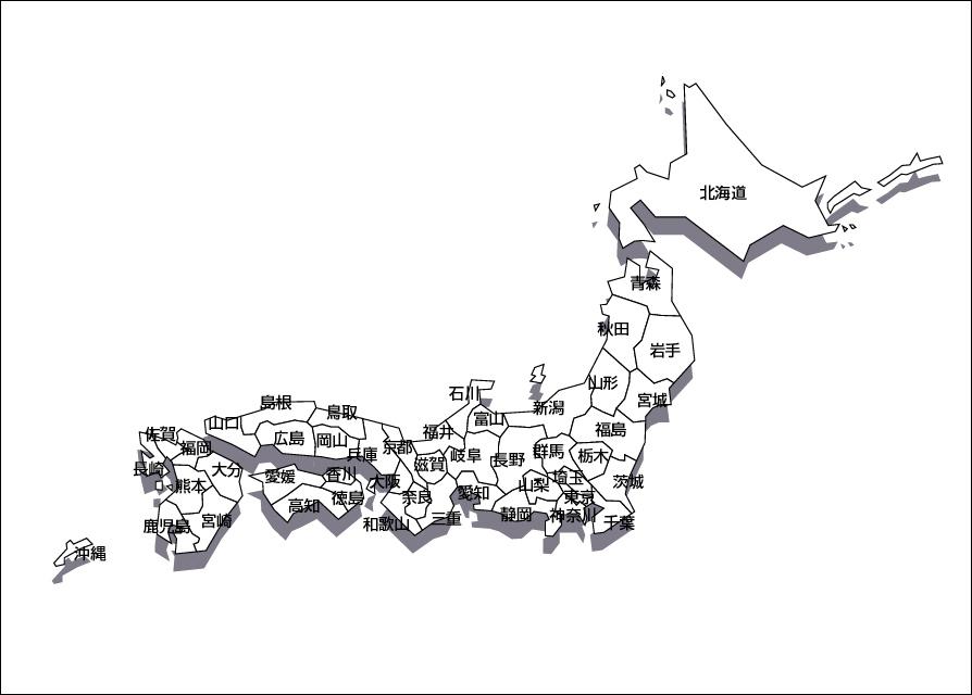都道府県 47都道府県の地図 : 日本地図のデザイン素材画像集 ...