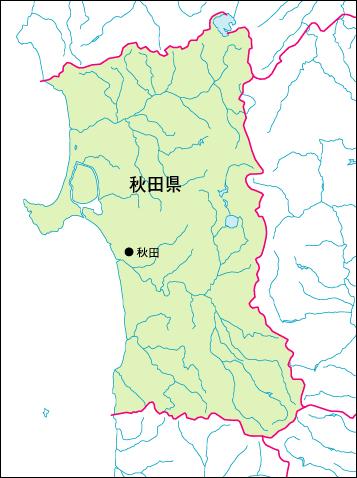 秋田市入り地図