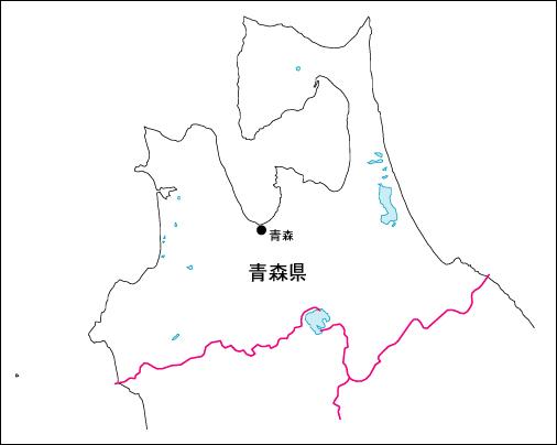 日本 日本地図 県名入り : 山形県地図素材 [日本地図 ...