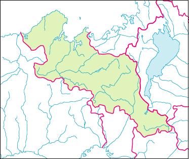 京都府の地図白地図