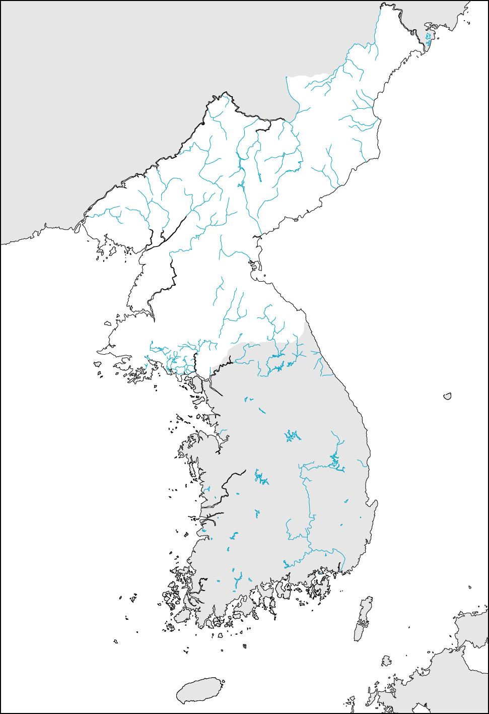 前へ 朝鮮半島 白地図集