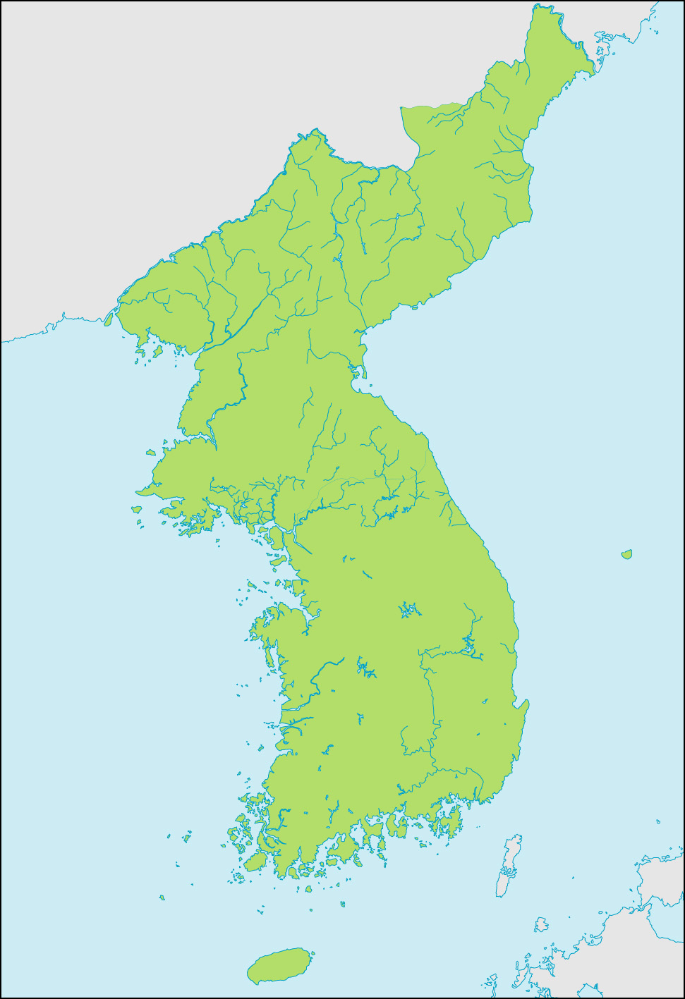朝鮮半島地図の画像