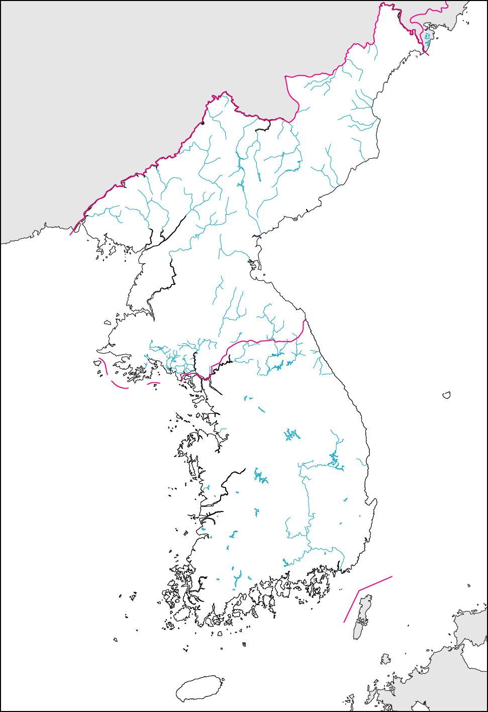 Map Of Korean Peninsula Outline for Pinterest