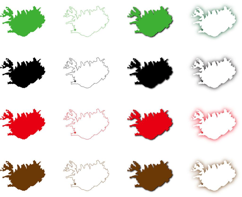 アイスランド地図