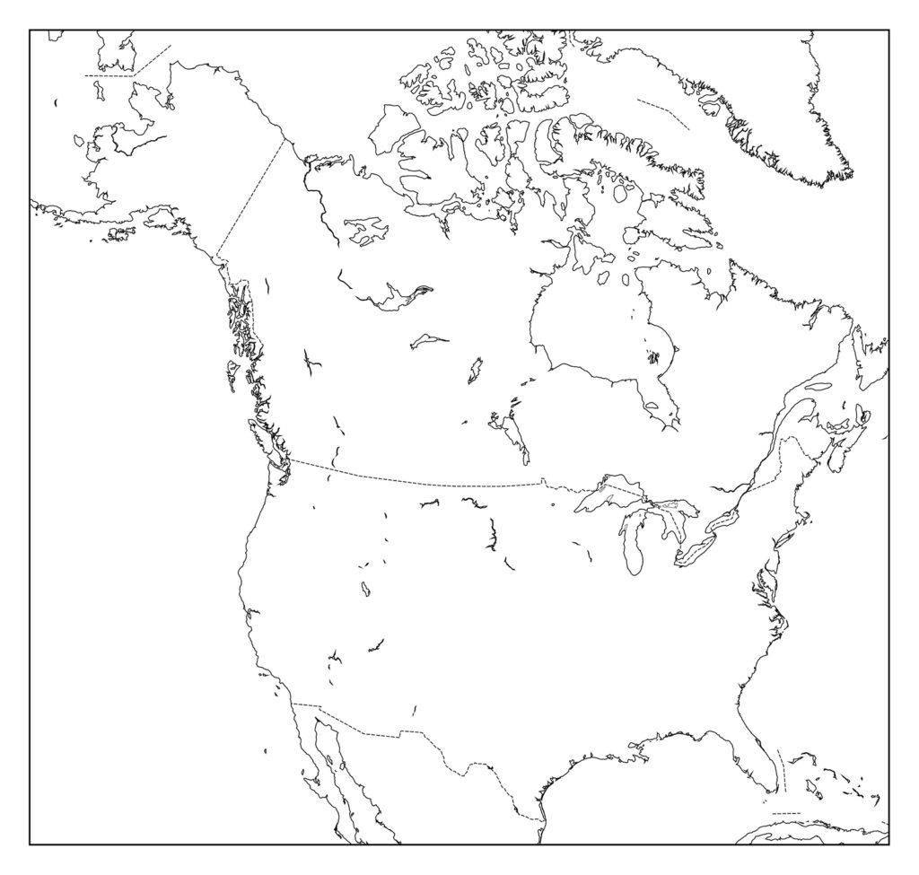 アメリカ合衆国白地図
