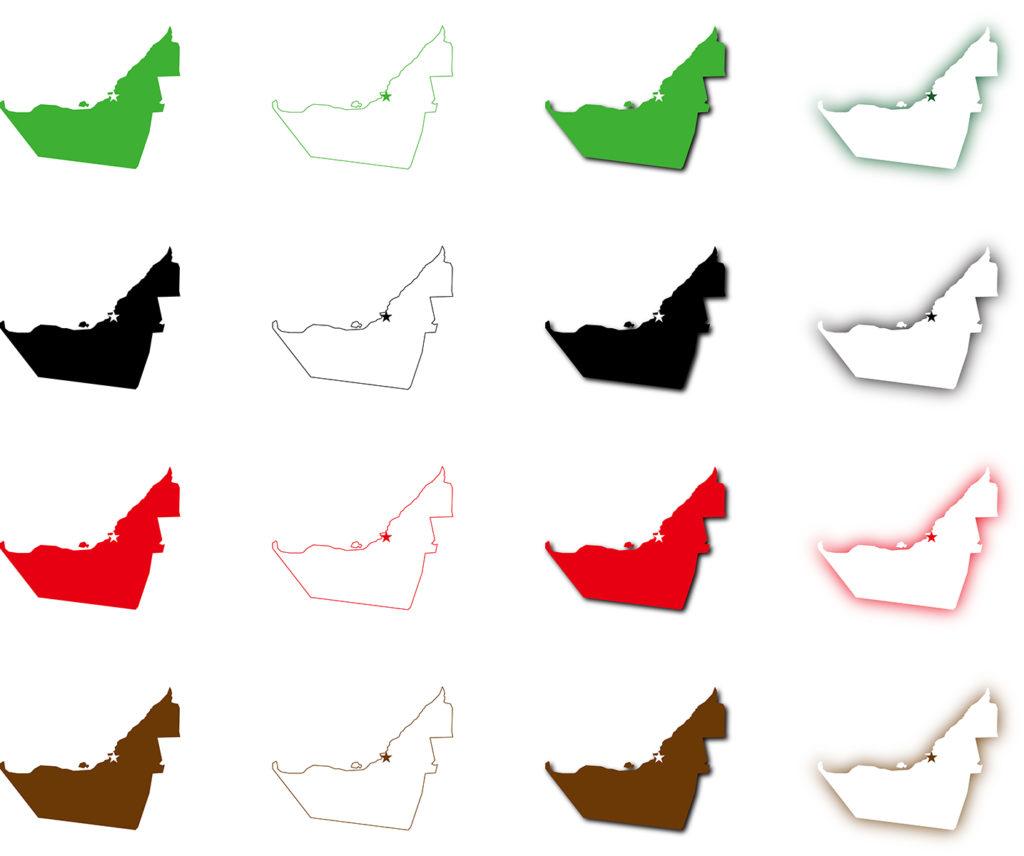 アラブ首長国地図