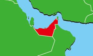 アラブ首長国連邦の地図